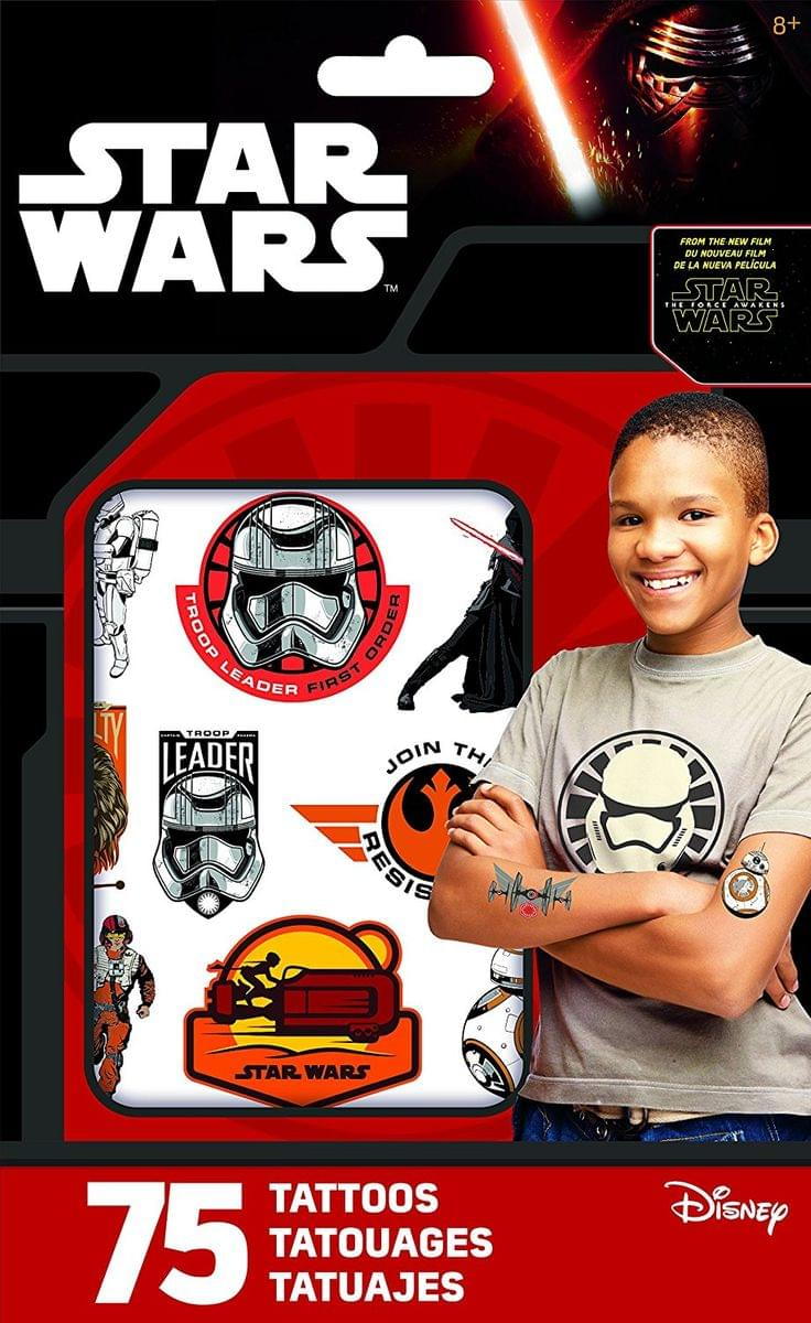 Star Wars The Force Awakens Pack of 25 Temporary Tattoos