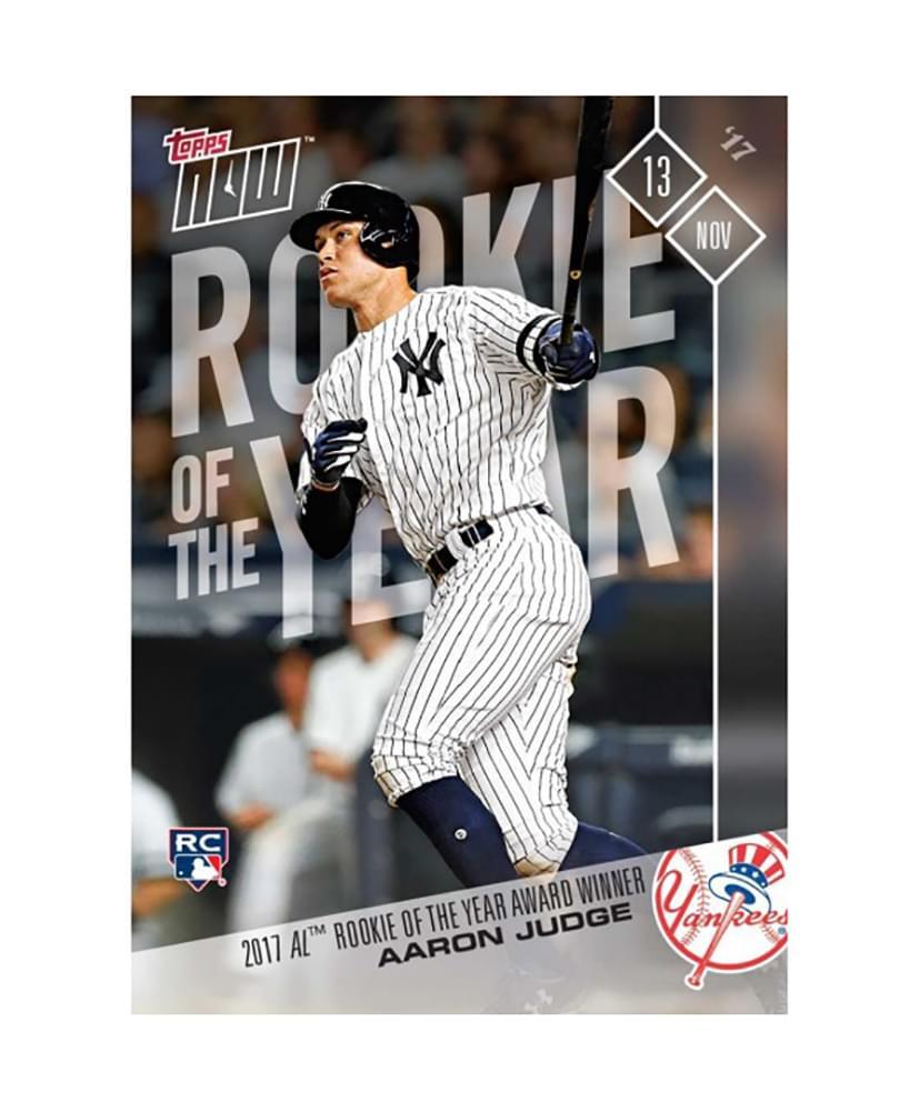 NY Yankees 2017 AL Rookie Of The Year Aaron Judge (RC) MLB