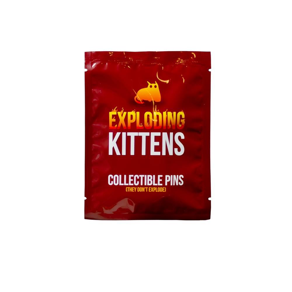 Exploding Kittens Series 1 Blind Bag Enamel Collector Pin, One Random