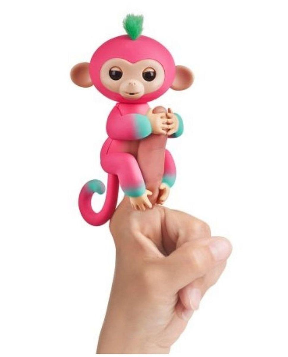 WowWee Fingerlings Interactive Baby Monkey Toy: Melon (Pink to Green)