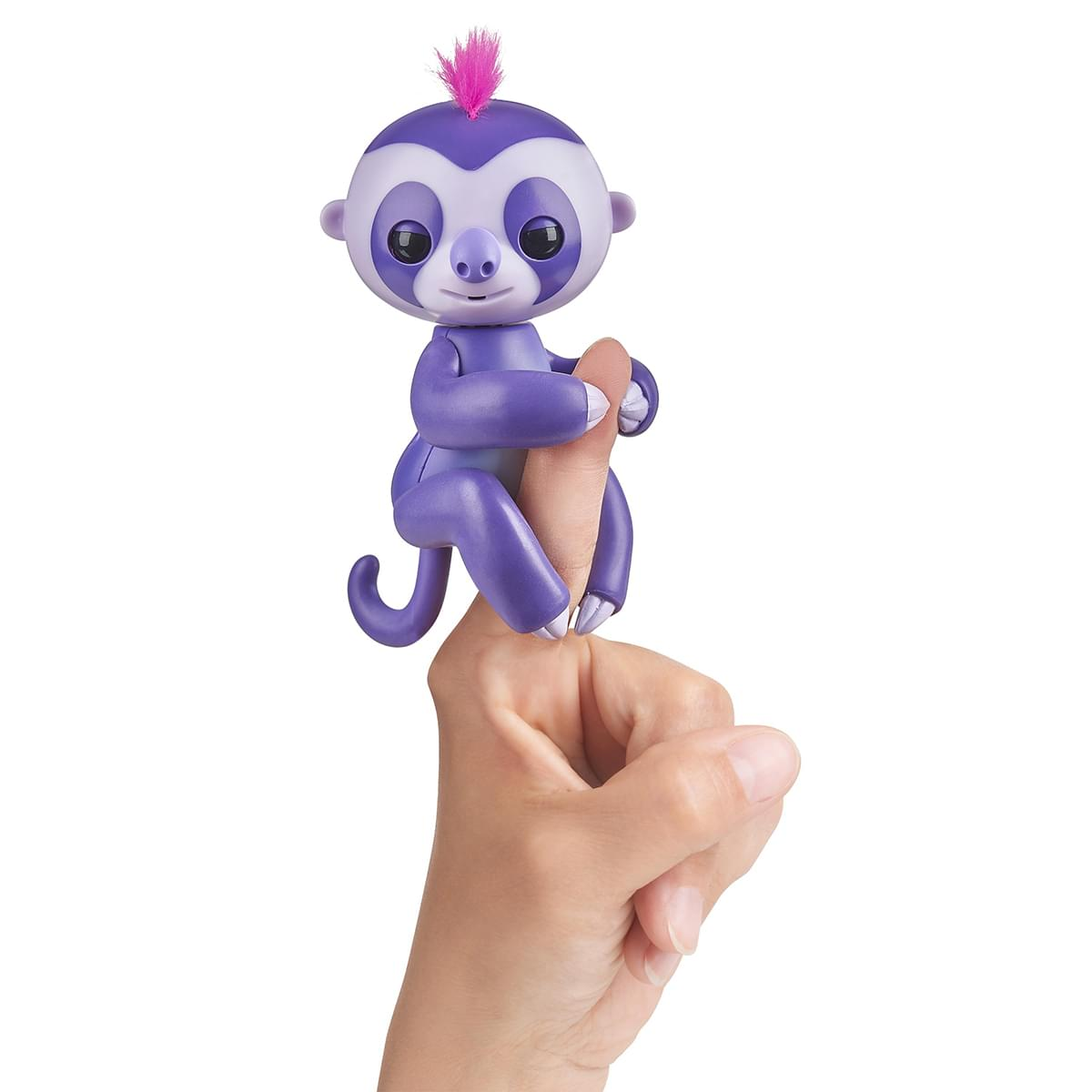 WowWee Fingerlings Interactive Baby Sloth Toy: Marge (Purple)