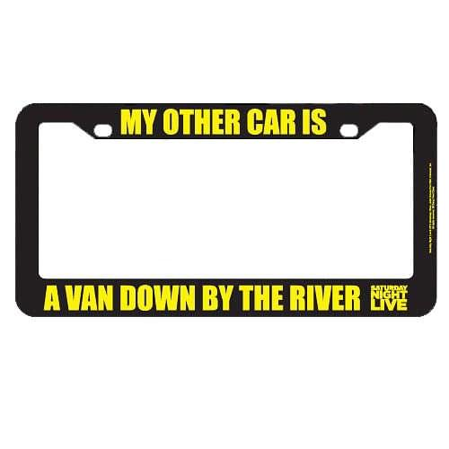 Bif Bang Pow! Saturday Night Live My Other Car Is A Van License Plate Frame