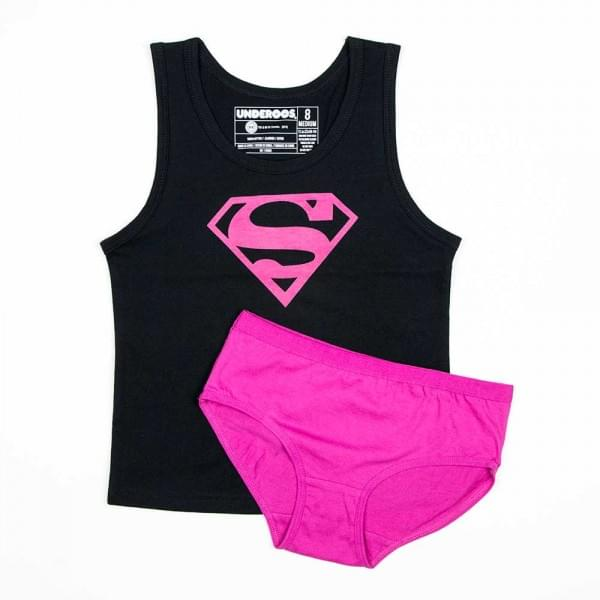 DC Comics Supergirl Girl's Tank/Underwear Underoos Set X-Small 4