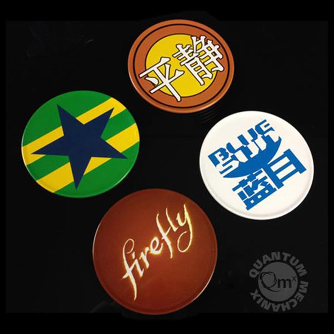 Firefly/ Serenity Tin Coasters: Set of 4