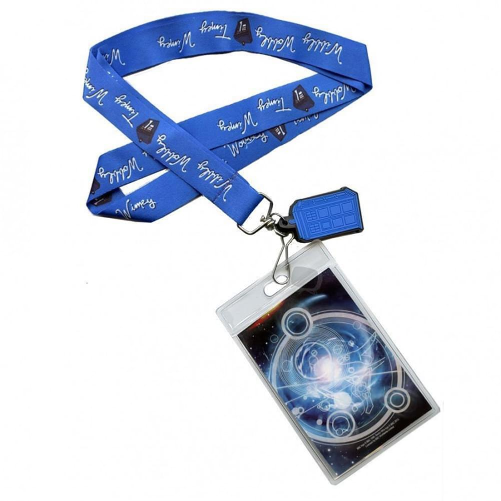Doctor Who Timey Wimey with 3D TARDIS Lanyard Charm