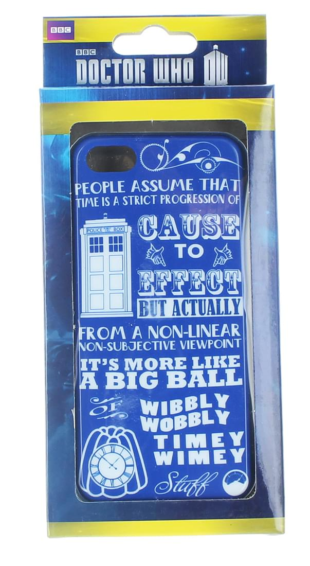Doctor Who iPhone 5 Hard Snap Case Wibbly Wobbly Timey Wimey