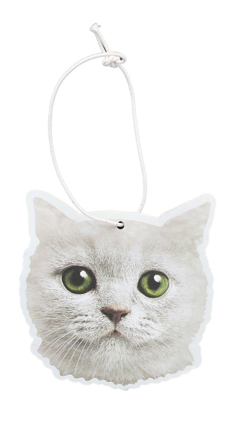 White Cat Cupcake Scented Hanging Air Freshener