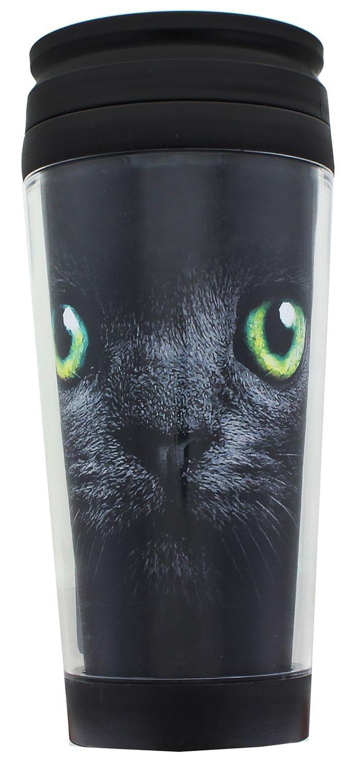 Black Cat 16oz Travel Mug w/ Lid