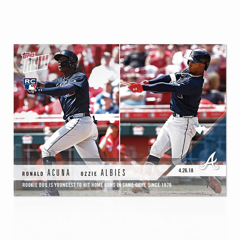 Atlanta Braves MLB Acuna/Albies TOPPS NOW Trading Card #130