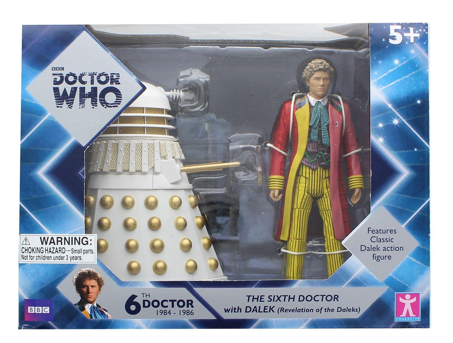 Details about Doctor Who 6th Doctor w/ Dalek 6 Inch Figure Set - Revelation  of the Daleks
