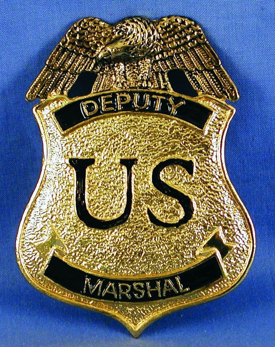 Deputy Marshal Costume Pin Badge One Size