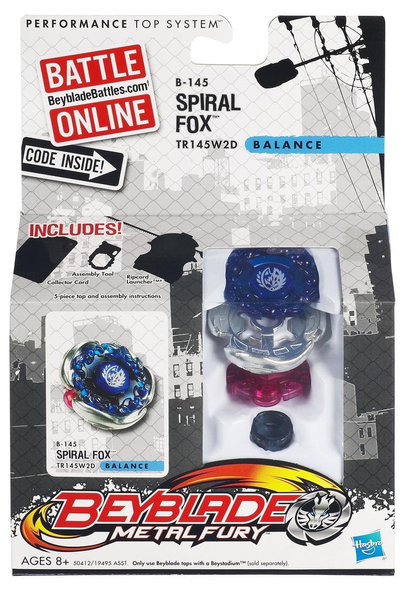 Beyblade Metal Fusion Battle Top Wave 7 B-145 Spiral Fox