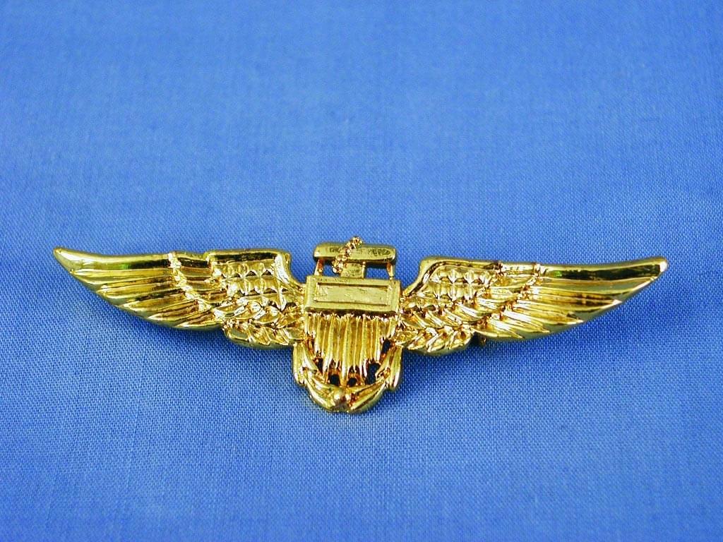 Aviator Pilot Costume Accessory Pin - Gold