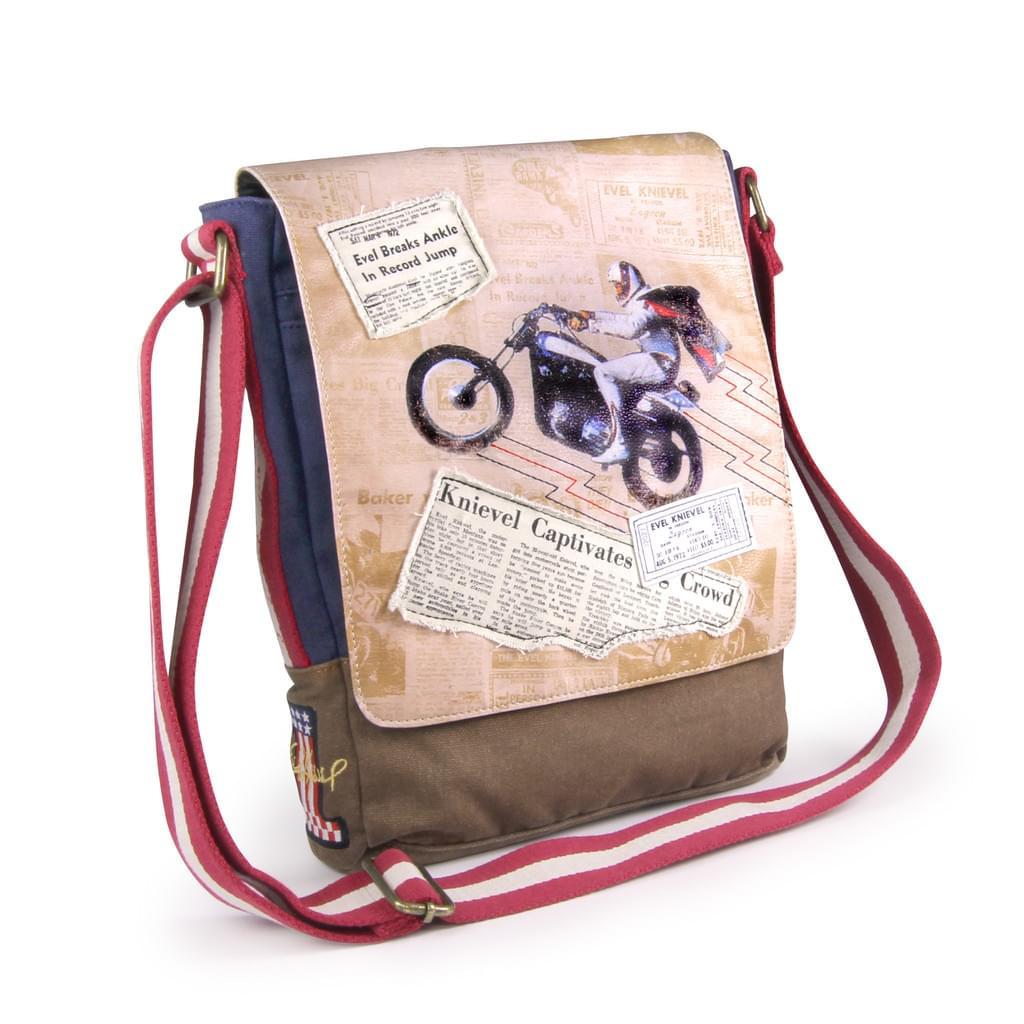 Evel Knievel Legacy Canvas Messenger Bag