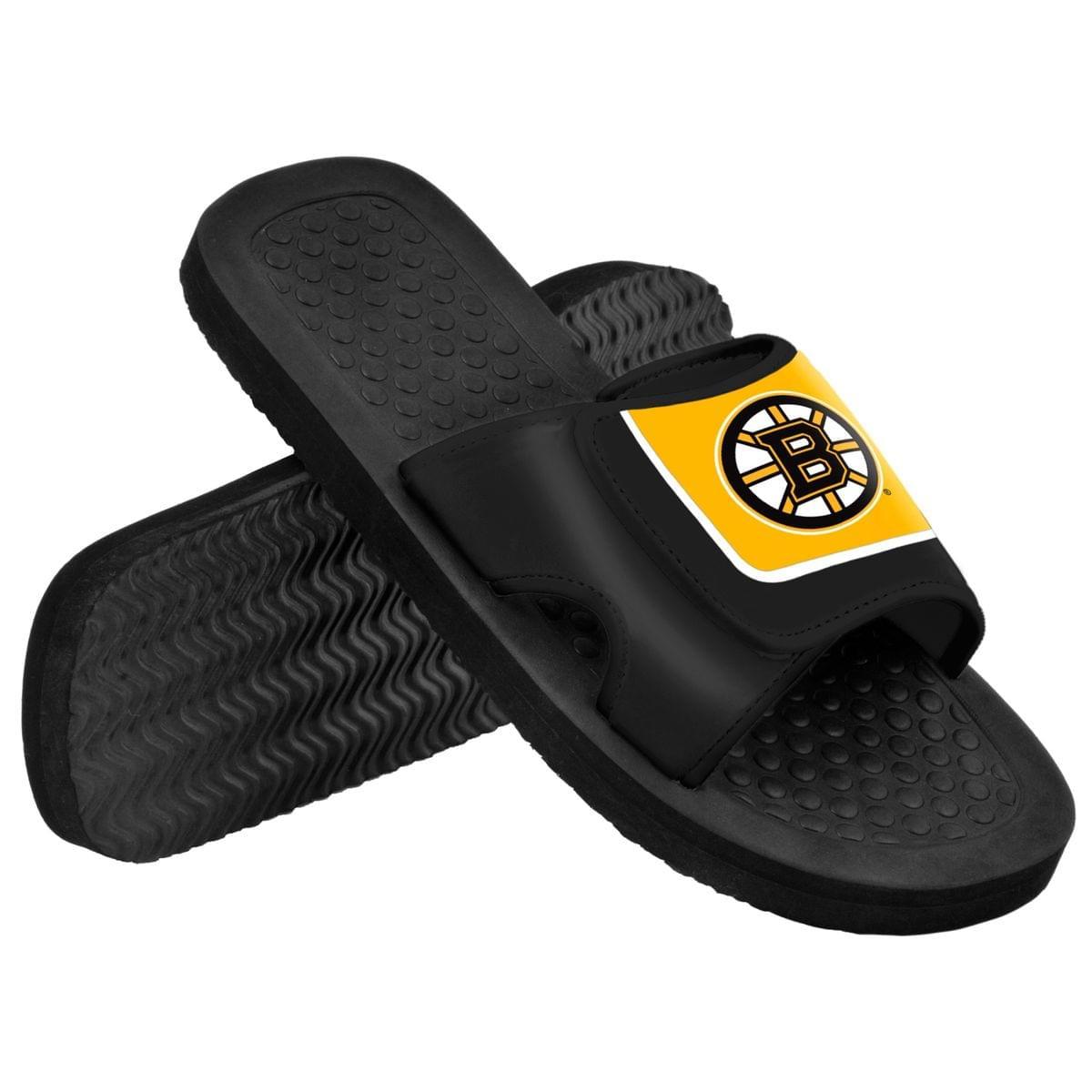 Boston Bruins NHL Men's Shower Slide Flip Flops X-Large