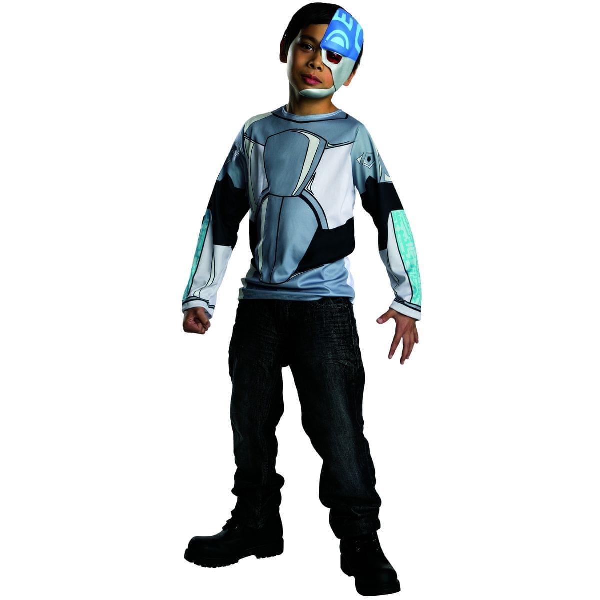 Click Thumbnails to Enlarge  sc 1 st  eBay & Teen Titans Go! Cyborg Top Child Costume Medium | eBay
