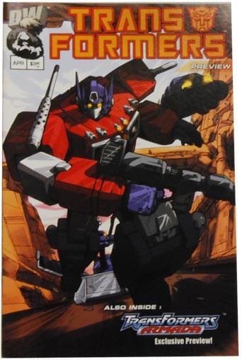 Transformers Generation 1, Preview 1, Print 1 Comic