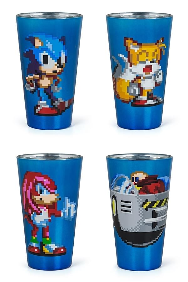 Sonic Running Etched Beer Mug Sonic the Hedgehog