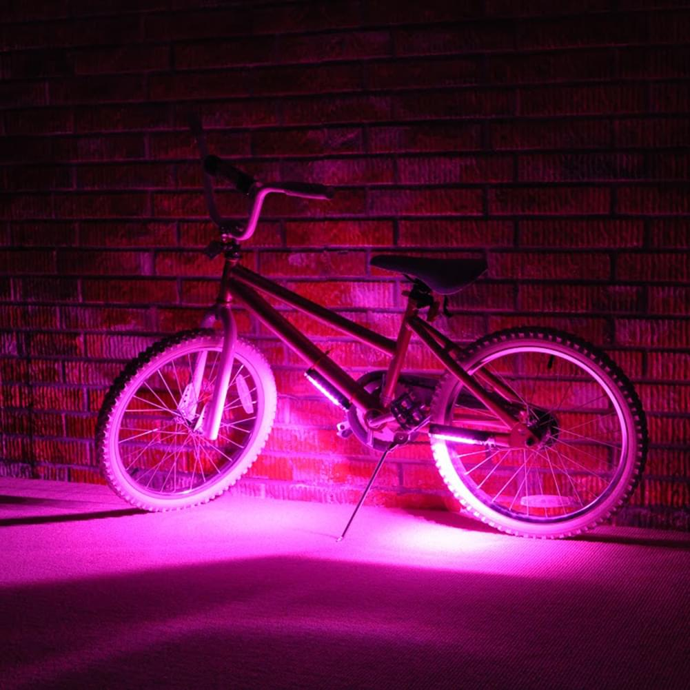 Brightz Pink LED Bicycle Safety Light Cycling Bike Accessory