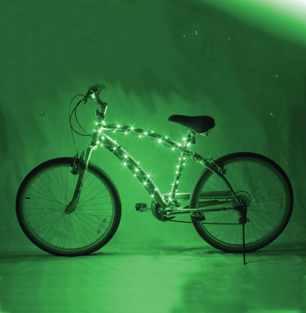Cosmic Brightz Green LED Bicycle Light Accessory