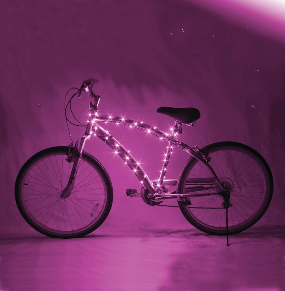 Cosmic Brightz Pink LED Bicycle Light Accessory