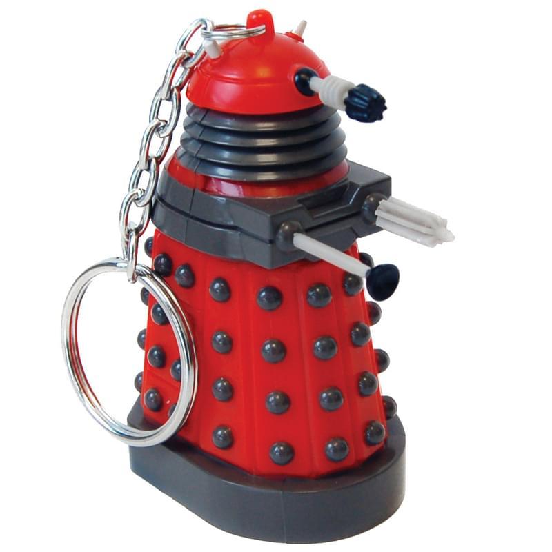 Doctor Who Red Dalek Keychain Flashlight
