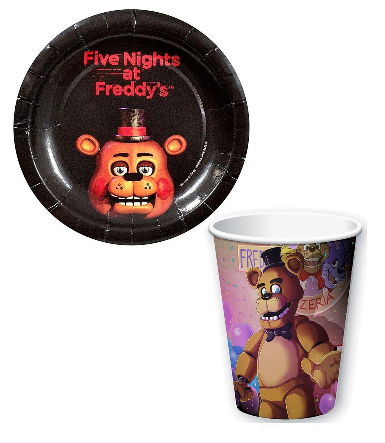 8ct Five Nights at Freddys Small Paper Plates