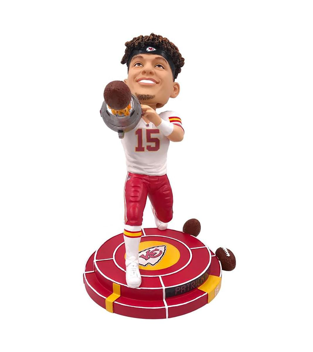 95887094894 Kansas City Chiefs NFL 8 Inch Resin Bobblehead - Cannon Arm Patrick ...