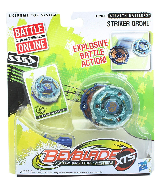 Beyblade XTS Stealth Battlers Battle Top w/ Launcher - Striker Drone