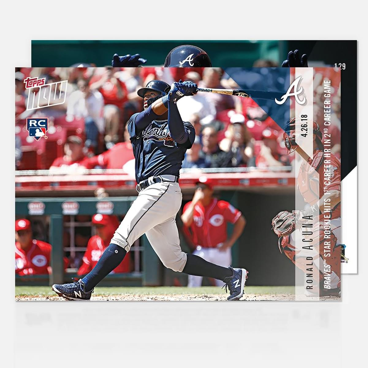 Atlanta Braves Ronald Acuna TOPPS NOW Trading Card #129