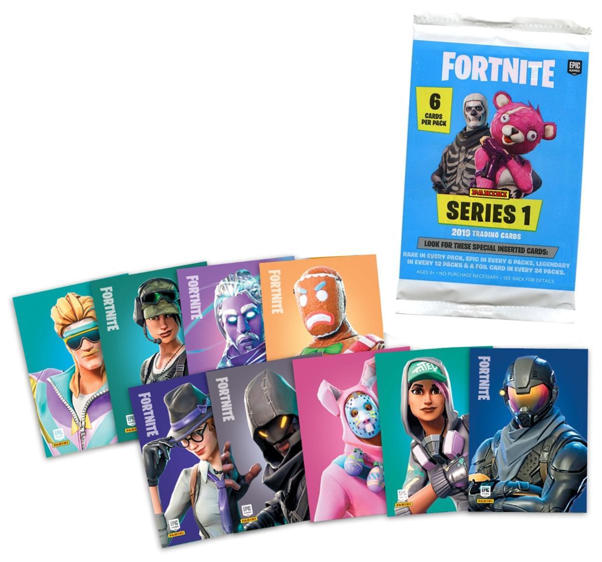 Fortnite Trading Cards Series 1 Foil Pack - 6 Cards