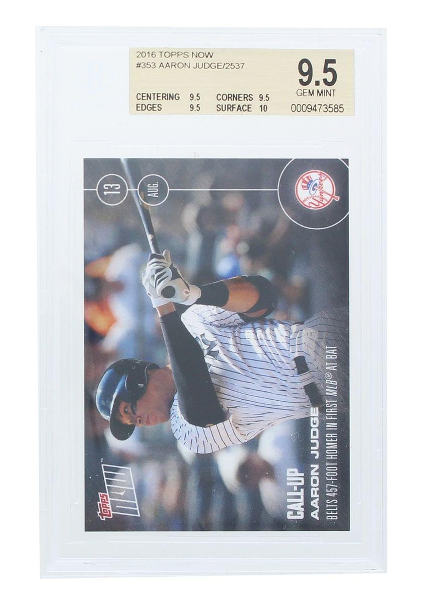 Aaron Judge New York Yankees 2016 Topps Now Rookie Card #353 BGS 9.5