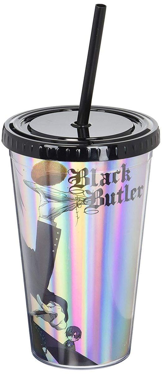 Black Butler Cast Foil Print 16oz Carnival Cup w/ Lid & Straw