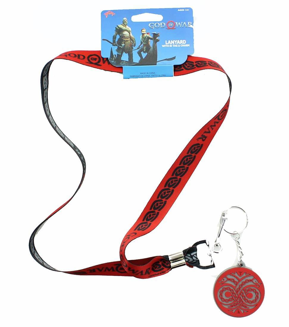 God of War 2018 Logo Lanyard with ID Tag and Charm