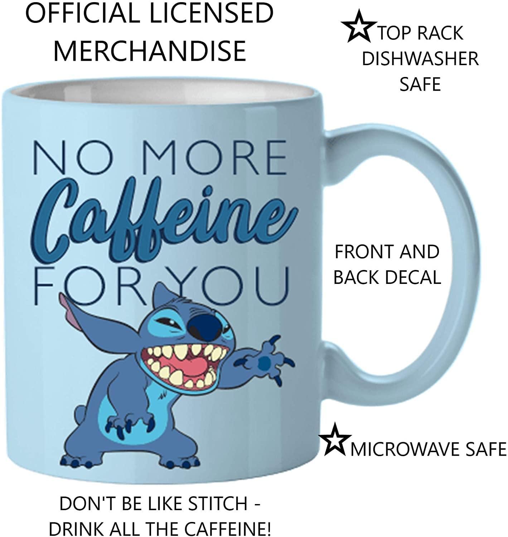 Disney Lilo Stitch No Mas Cafeina 14oz Ceramica Taza De Cafe Ebay