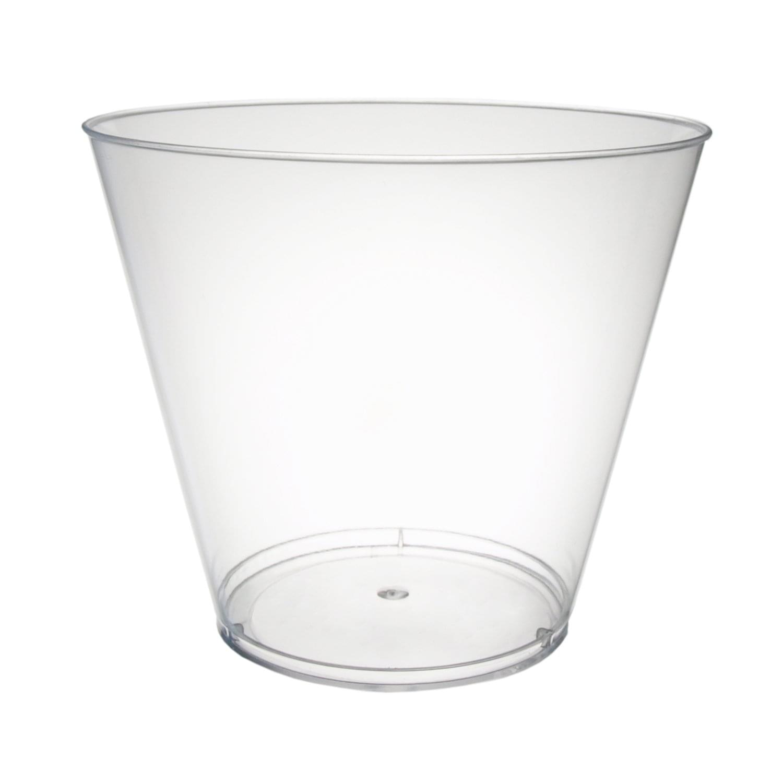 9 Oz Clear Plastic Tumbler Glasses Pack Of 20