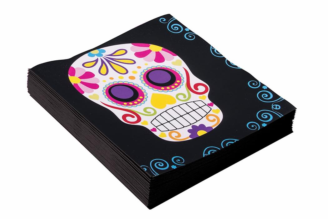 Day Of The Dead Napkins 16 Pack