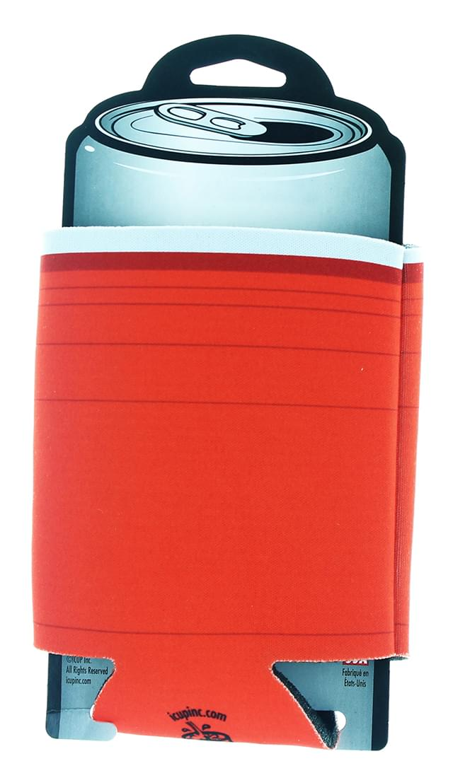 Designer Can Cooler: Red Pong Cup