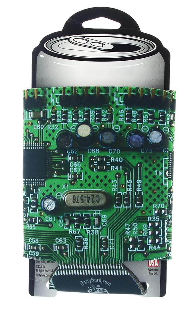 Designer Can Cooler: Circuit Board Pattern