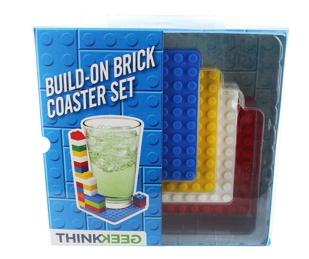 Build-On Brick 4-Piece Coaster Set