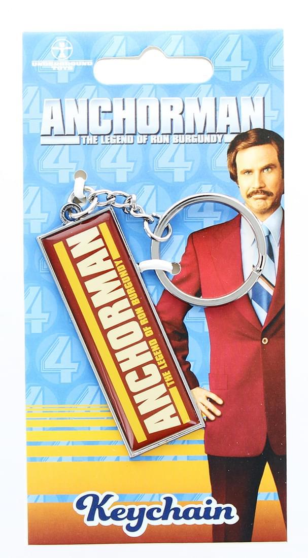 Anchorman The Legend of Ron Burgundy Logo Keychain