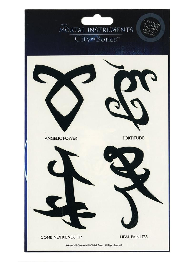 The Mortal Instruments City of Bones Temporary Tattoo Set
