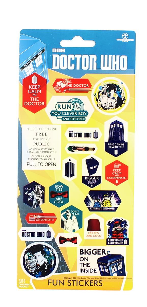 Doctor Who Assorted 22-Piece Sticker Sheet Set