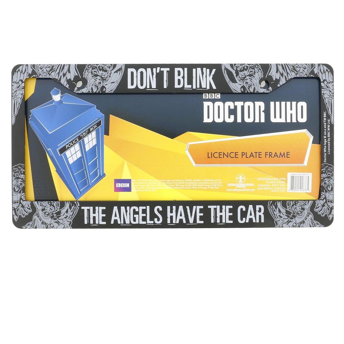 Doctor Who License Plate Frame: Don't Blink