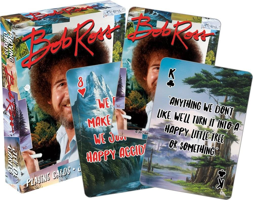 Bob Ross Quotes Multi-Image Playing Cards, Deck of 52