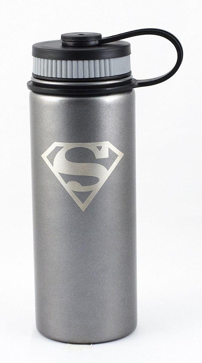 DC Superman Logo 18oz Stainless Steel Water Bottle
