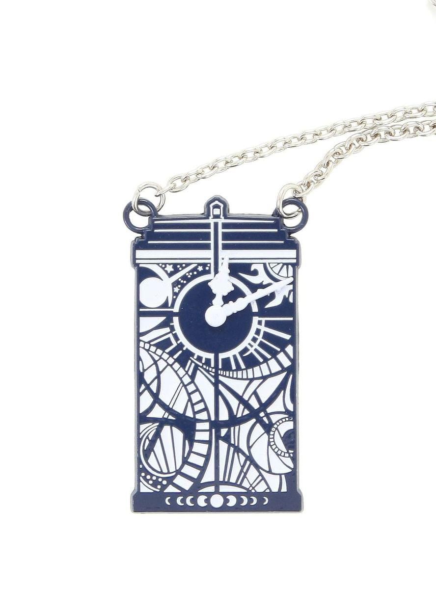 Doctor Who Gallifreyan Clock Tardis Necklace