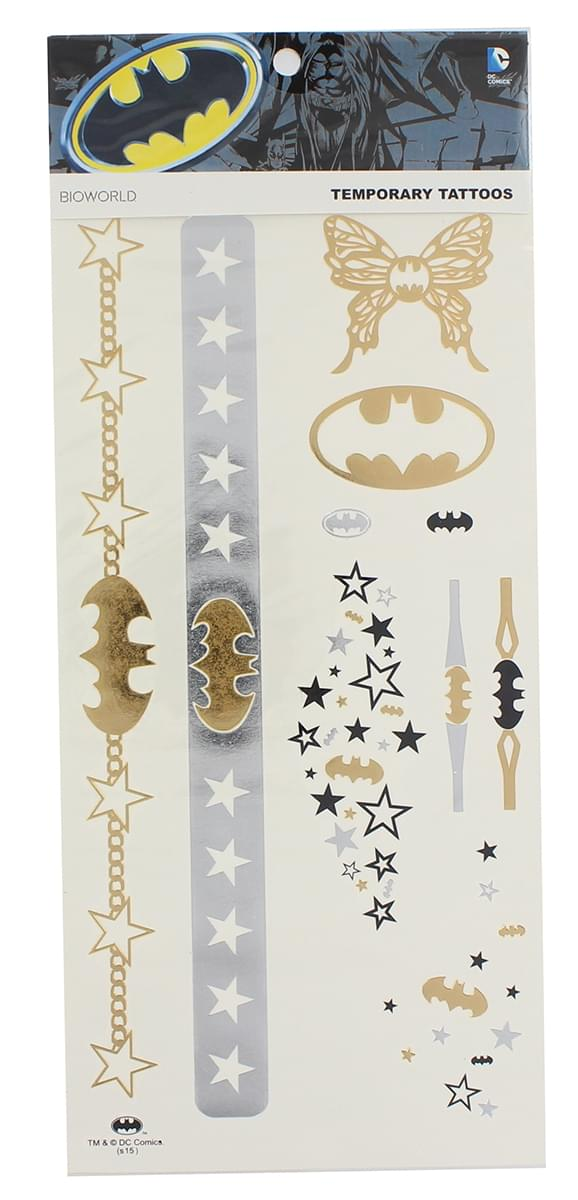 DC Comics Temporary Tattoo Sheet: Batman