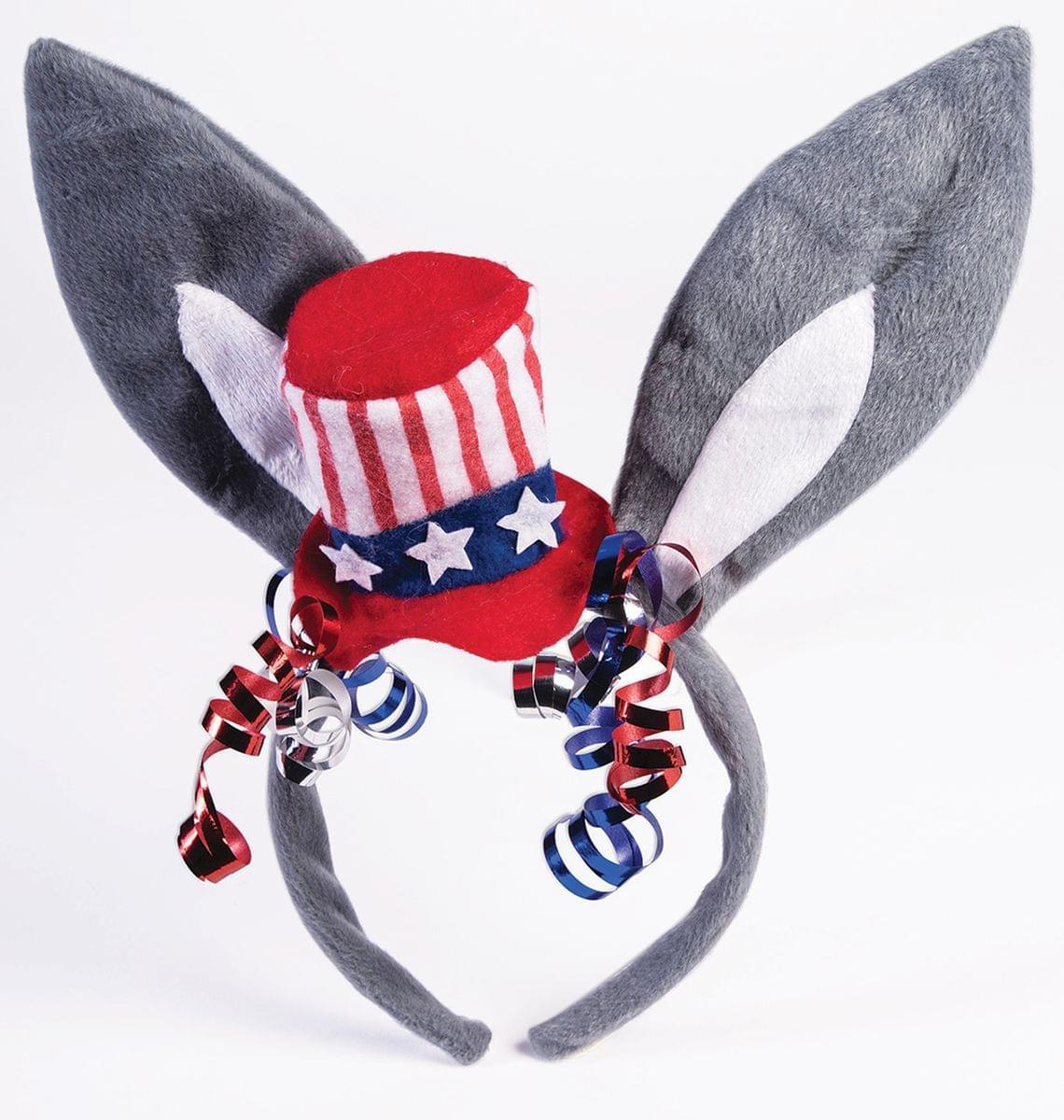 Democratic Donkey Ears Patriotic Costume Headband | eBay