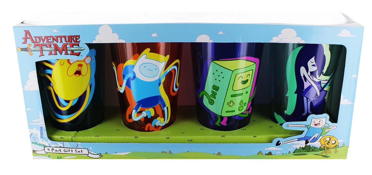 Adventure Time Masquerade Party 16oz Pint Glass 4-Pack